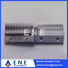 Aluminium Hitachi Escalator Comb Plate Escalator Parts