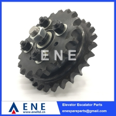 20T and 27T Double Gear Wholesale LG SIGMA Escalator Drive Gear Sprocket Escalator Spare Parts