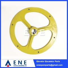 Escalator Friction Wheel 533MM Handrail Pulley Escalator Spare Parts